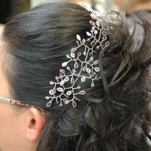 decorazione acconciatura sposa
